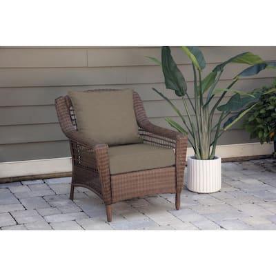 Oak Cliff 24 x 24 Sunbrella Cast Shale Deep Seating Outdoor Lounge Chair Cushion