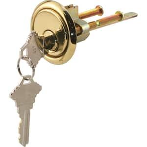 Brass Diecast, Rim Cylinder Lock with Trim Ring, 5 Pin