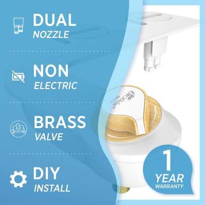 Non-Electric Bidet Attachment System in White
