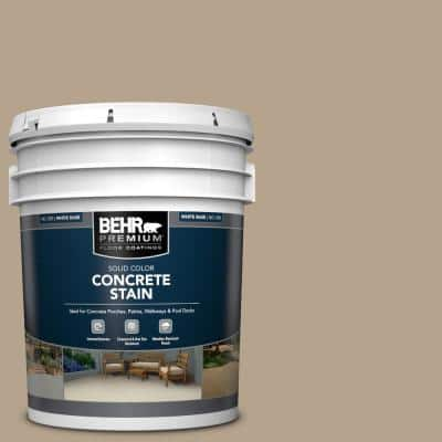 5 gal. #PFC-33 Washed Khaki Solid Color Flat Interior/Exterior Concrete Stain