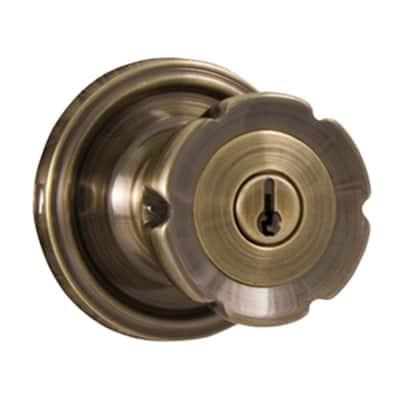 Traditionale Antique Brass Keyed Entry Eleganti Door Knob