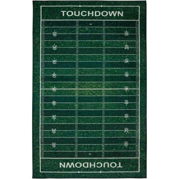 Mohawk Home - Football Yards Green 8 ft. x 10 ft. Theme Area Rug