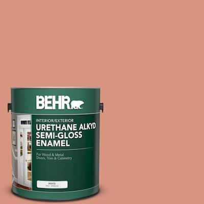 1 gal. #BIC-17 Tropical Blooms Urethane Alkyd Semi-Gloss Enamel Interior/Exterior Paint