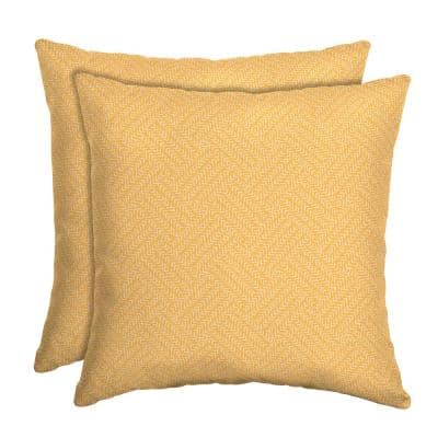 16 x 16 Shirt Texture Square Outdoor Throw Pillow (2-Pack)