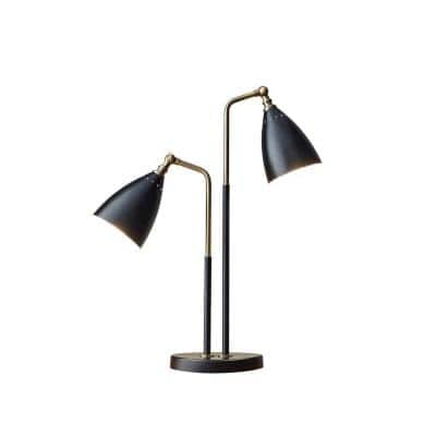 Chelsea 32 in. Black and Brass Table Lamp