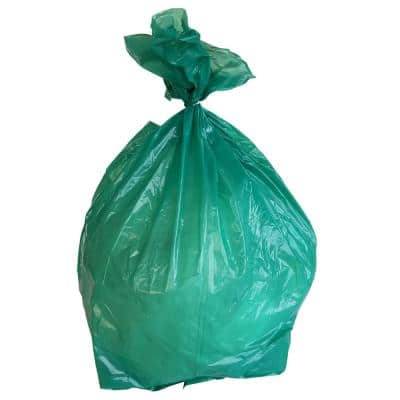 24 in. W x 31 in. H 12 Gal. to 16 Gal. 1 mil Green Trash Bags (250- Count)