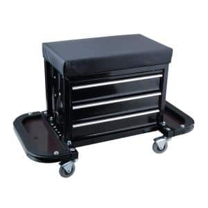 Mechanic's Roller Seat with Drawers and Side Trays