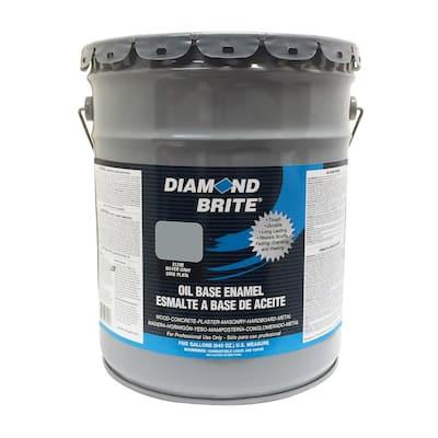 5 gal. Silver Gray Oil Base Enamel Interior/Exterior Paint