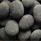 0.64 cu. ft. 50 lbs. 4 in. to 6 in. Black Smooth Beach Lava Pebble for Landscaping and Fire Features