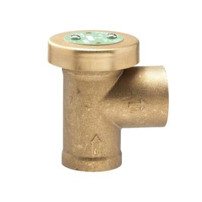 1 in. x 1 in. Brass FPT x FPT Anti-Siphon Air Admittance Valve