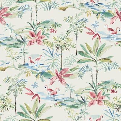 Lagoon Teal Watercolor Teal Wallpaper Sample
