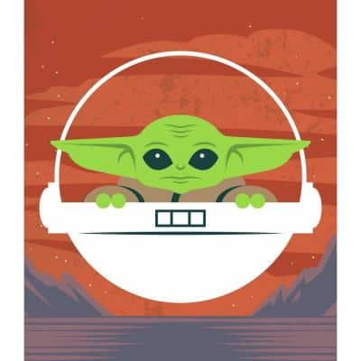 Green Star Wars The Child Tapestry