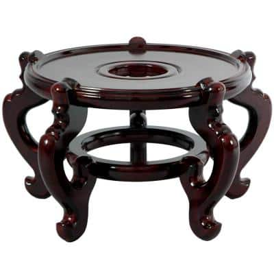 12.5 in. Rosewood Fishbowl Stand in Rosewood