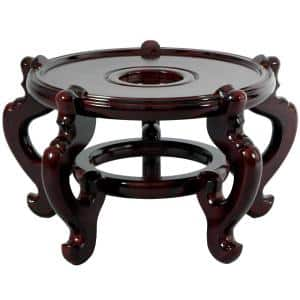 8.5 in. Rosewood Fishbowl Stand in Rosewood