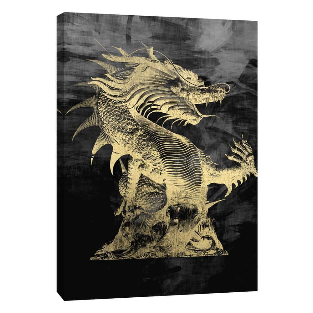 Ptm Images 12 In X 10 In Golden Dragon Printed Canvas Wall Art 9 104182 The Home Depot