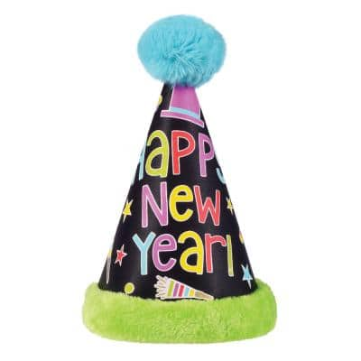 Multi-Color Happy New Year's Cardstock Child Cone Hat (3-Pack)