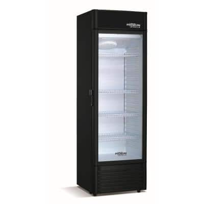 15.5 cu. ft. Commercial Upright Display Refrigerator Glass Door Beverage Cooler in Black