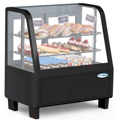 3.6 cu. ft. Commercial Refrigerator Countertop Display Case in Black