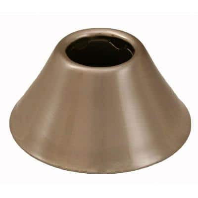 2-3/8 in. O.D. Bell Pattern Escutcheon for 1/2 in. Iron Pipe in Brushed Nickel