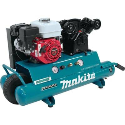 10 Gal. 5.5 HP Portable Gas-Powered Twin Stack Air Compressor