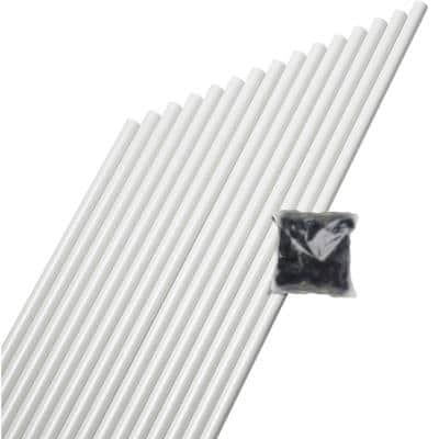26 in. x 3/4 in. White Aluminum Round Baluster (15-Pack)