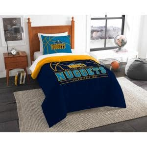 Nuggets 2-Piece Multi Color Polyester Reverse Slam Twin Comforter Set