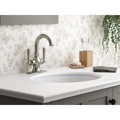 Capilano Monoblock 4 in. Centerset 2-Handle Bathroom Faucet in Vibrant Brushed Nickel