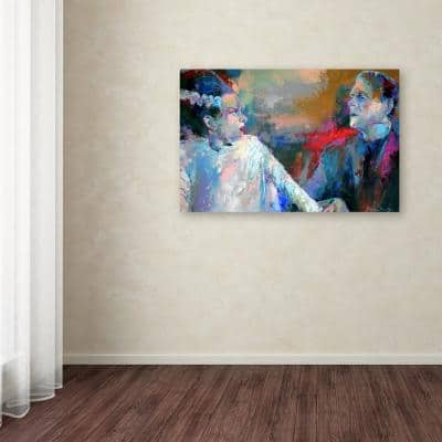 """30 in. x 47 in. """"Frankenstein and His Wife"""" by Richard Wallich Printed Canvas Wall Art"""