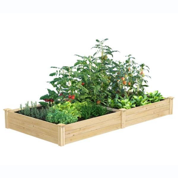 Greenes Fence 4 Ft X 8 Ft X 10 5 In Original Cedar Raised Garden Bed Rc6t21b The Home Depot