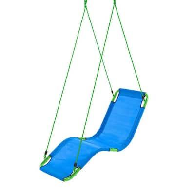Hanging Blue Lounge Tree Swing