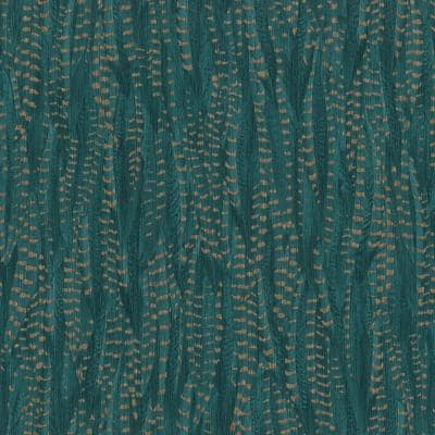 Pinna Teal Feather Texture Wallpaper Sample