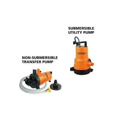 1/4 HP 2-in-1 Utility Pump