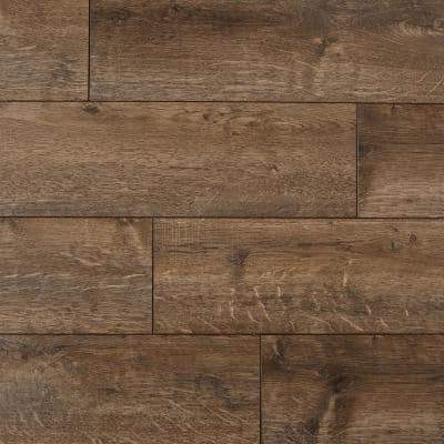 Fincrest Brown Oak 12 mm Thick x 6-1/16 in. Wide x 50-2/3 in. Length Laminate Flooring (17.07 sq. ft. / case)