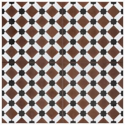 Henley Rojo Encaustic 17-5/8 in. x 17-5/8 in. Ceramic Floor and Wall Tile (11.02 sq. ft. / case)