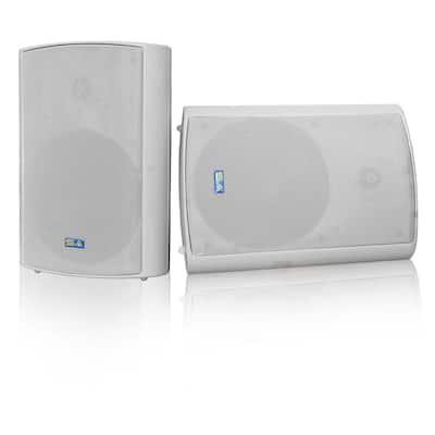 Bluetooth BT Blast 5.25 Indoor/Outdoor Weatherproof Patio Speakers, Gray Rated Industry Best (Pair)