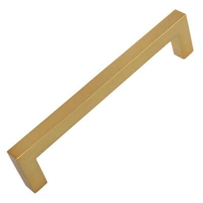 5 in. Brass Gold Solid Square Slim Cabinet Bar Pull (10-Pack)