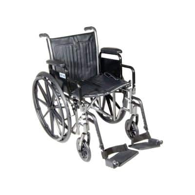 Silver Sport 2 Wheelchair with Desk Arms, Swing Away Footrests and 18 in. Seat