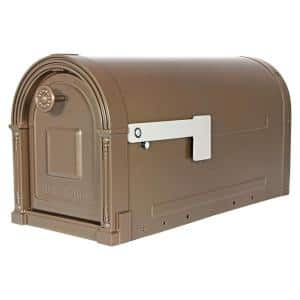 Garrison Large, Steel, Post Mount Mailbox, Venetian Bronze