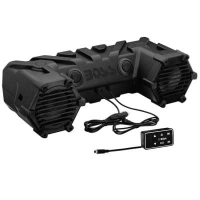 Dual 6.5 in. 450-Watt ATV/Marine Amplified Waterproof Speakers Plus Bluetooth