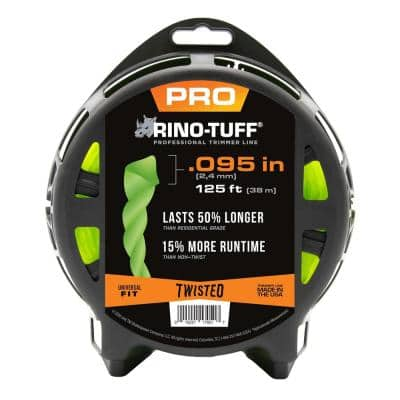 Universal Fit .095 in. x 125 ft. Pro Twisted Line for Gas and Select Cordless String Grass Trimmer/Lawn Edger