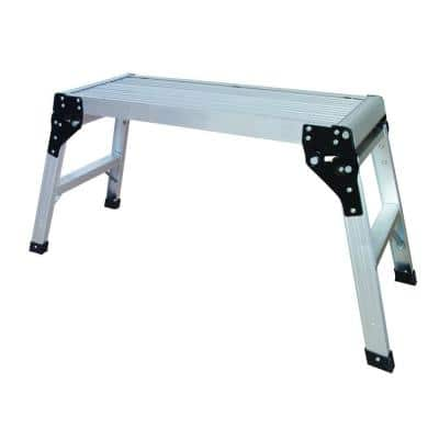 2.5 ft. x 1.63 ft. x 3.56 ft. Aluminum Portable and Foldable Slip-Resistant Step Stool Work Platform, 350 lbs. Capacity