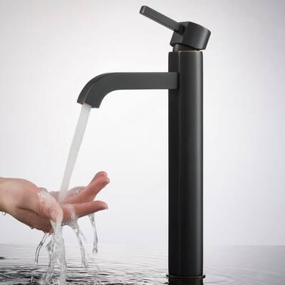 Ramus Single Hole Single-Handle Vessel Bathroom Faucet in Oil Rubbed Bronze