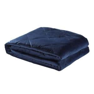 Deka 2-in-1 Warm and Cool Navy Weighted Blanket 8 lbs. 48 in. x 72 in.