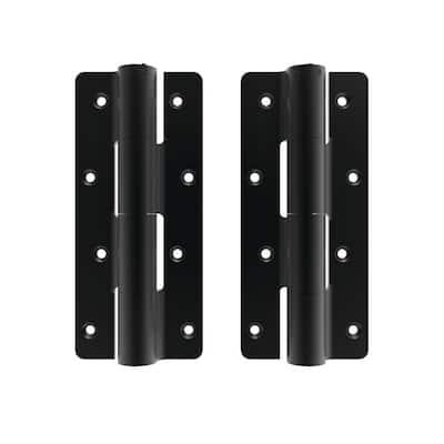 3.125 in. x 7.187 in. Aluminum Black Heavy-Duty Butterfly Hinge (2-Pack)