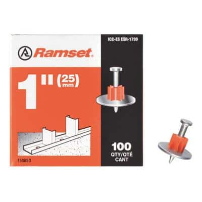 1 in. Drive Pins with Washers (100-Pack)