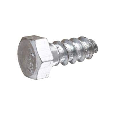 3/8 in. x 1 in. Hex Zinc Plated Lag Screw (25-Pack)