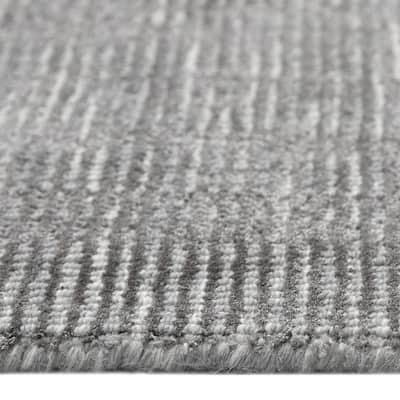 Sierra Contemporary Modern Gray 9 ft. x 12 ft. Hand Loomed Area Rug