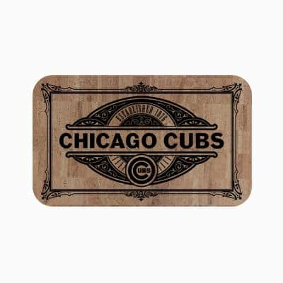 MLB - Chicago Cubs Cork Comfort Mat 18 in. x 30 in.