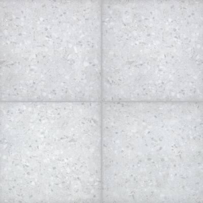 Terrazo Glacier 24 in. x 24 in. Matte Porcelain Paver Tile (14 pieces / 56 sq. ft. / pallet)