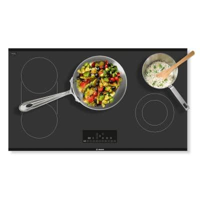 800 Series 36 in. Radiant Electric Cooktop in Black with 5 Elements including 3,600-Watt SpeedBoost Element
